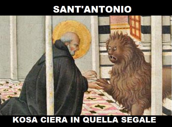 Concedetemi questa piccola licenza: quello in realtà è San Girolamo, ma lo sguardo strafatto del leone meritava troppo
